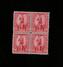 US S1 War Savings Stamp BLOCK OF 4  RED 10c MINT NH OG MINUTEMAN