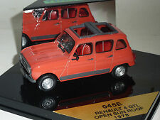 AUTO VITESSE 1:43 DIE CAST RENAULT 4 GTL OPEN SUN ROOF 1978 ARANCIO ART 045E