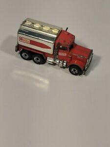1981 Matchbox Peterbilt Getty Tank Tanker Gas Truck #56 1:80 Loose