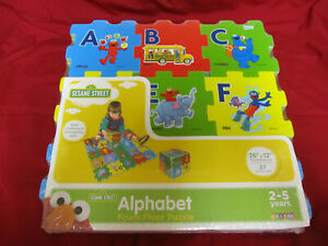 New Sesame Street Alphabet Foam Floor Puzzle Toy Playset 27pcs 2-5 Yeas 36x12 in
