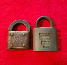 2 Vintage Antique Yale & Yale Jr Padlocks. No Keys