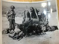 WW2 Official U.S. Coast Guard Photo: Jeep Meets Land Mine Invasion of Salerno