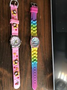 2 Different Girls Monkey Themed Watches Rarely Worn Clean Working