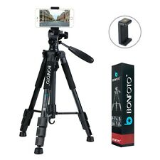 Q111 Kamerastativ Aluminium Reisestativ Photo Stativ Telefon-Clip für Kamera