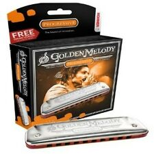 HOHNER Golden Melody Harmonica, Key D, Made In Germany, Includes Case, 542BL-D