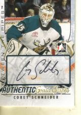 2007-08  ITG BETWEEN THE PIPES - AUTHENTIC GOALIEGRAPHS - COREY SCHNEIDER AUTO