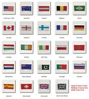 National Country Flags different sizes Iron Sew on Patch badge