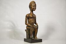 "Baule Style Seated Statue 21.5"" - Ivory Coast - African Art"