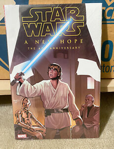 MARVEL STAR WARS A NEW HOPE 40th ANNIVERSARY Deluxe HARDCOVER Sealed NEW!