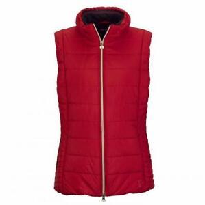 NWT GOLFINO Ladies CLUB WAISTCOAT Vest 5350526 369 Crimson Sz 6 8 10 12 NEW