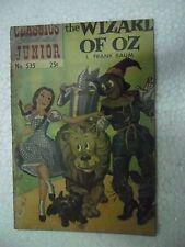 THE WIZARD OF OZ    NO 535  CLASSICS ILLUSTRATED JUNIOR  Rare Comic ENGLISH