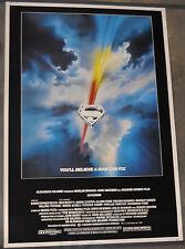 SUPERMAN 1978 ORIGINAL 40X60 MOVIE POSTER CHRISTOPHER REEVE, MARGOT KIDDER