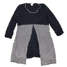 Alison Sheri Blue 3/4 Sleeve Layered Look Tunic Extra Large XL
