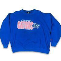 Starter Mens Florida Gators Long Sleeve Crew Neck Blue Sweatshirt Size Large