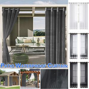 Pergola/Patio Waterproof Curtains Voile Gauze Net Curtain Screening Home Garden