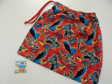 Batman Action on Red Library Bag - Accessory Drawstring Tote Swimming