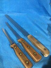 Vintage Chicago Cutlery Kitchen Knives, BT10, 65S, 62S Set of Three