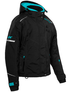 Castle X Womens Polar Jacket Black.Turquoise Snowmobile coat