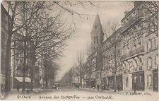 CARTE POSTALE ANCIENNE ST-OUEN Avenue de BATIGNOLLES-Rue GARIBALDI-P.Flamery Ed.
