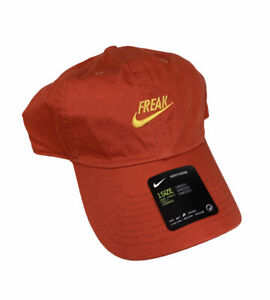 NEW Nike Heritage66 Giannis Antetokounmpo Freak Strapback Mens Hat Cap Orange