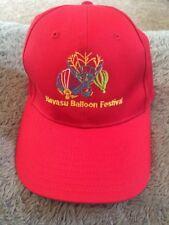 Havasu Balloon Festival Hot Air Balloon Pilot Cap Hat Red Golf Adjustable