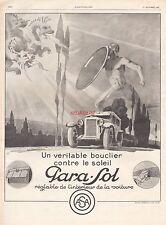 Publicité Pare soleil  Para-Sol  Accessoires Automobile vintage ad  1927 -2j