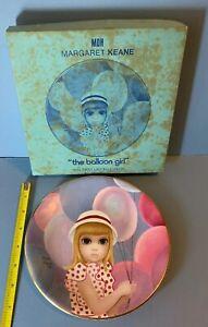 Vintage 1976 Margaret Keane plate The Balloon Girl Big Eyes original box 70s