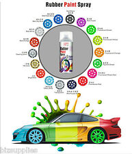 Matte Black 4 CANS - Plasti Dip Spray Rubber Coating Print on Alloy Wheel Rim