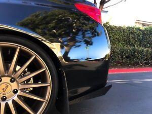 Rear Carbon Fiber Bumper Splitters Fits Subaru Impreza STI WRX 2015-18 Diffuser