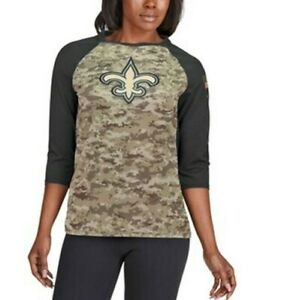 NEW ORLEANS SAINTS NIKE SALUTE TO SERVICE T-SHIRT WOMENS SIZE MEDIUM NWT