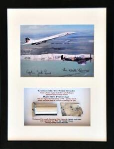 Concorde Turbine Blade & Battle of Britain Spitfire Mk1Fuselage R6753 Framed