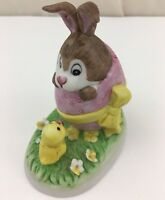 Russ Berrie Bunny Rabbit and Chick Figurine #1063