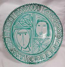 Piatto ceramica Laca Albisola cm 43x43 Antikidea