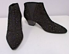 """ASH Black """"Hypnotic"""" Studded Ankle Boot w/ Elastic at Sides -Size 38"""