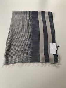 Paul Smith Men's 100% Silk SCARF Grey And Beige 180Cm X 72cm BNWT