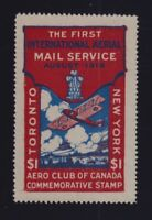 Canada Sc #CLP3b (1919) $1 Aero Club of Canada Semi-Official VF
