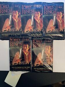 5 packs - Decipher LotR CCG Fellowship of the Ring, The - Booster Pack MINT