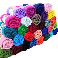Hot Women Soft Long Neck Large Scarf Wrap Shawl Pashmina Stole Cotton Scarves