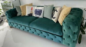 CHESTERFIELD Sofa  SAMT Grün 3 Sitzer Barock Style