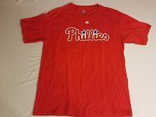 Men's COLE HAMELS Philadelphia Phillies RED Jersey-Style #35 Tshirt - XXL 2XL
