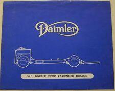 DAIMLER 30 foot double pont châssis de Bus original brochure CIRCA 1950