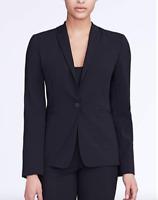 Elie Tahari Alma Women's Jacket Size 16 Black Stretch Wool Career Blazer $398