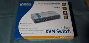 NEW SEALED D-LINK DKVM-4K KVM  4 Port Switch FREE SHIPPING