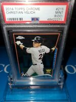 PSA 9 OC ~2014Topps Chrome Christian Yelich #215 All Star Rookie Cup🏆Card🔥MVP