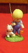 Enesco Country Cousins Scooter going Fishing with his Dog