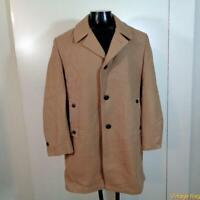 ANDERSON-LITTLE Vtg Long Wool Coat Overcoat Mens Size L 44 Camel khaki