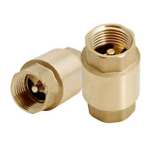 "1-1/4"" Brass IPS Threaded Spring Check Valve - Lead Free"