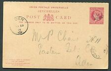 Used Postal Card, Stationery Seychelles Stamps (Pre-1976)