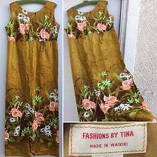 VTG Fashions By Tina Made In Waikiki Hawaiian Dress Medium Maxi Dress