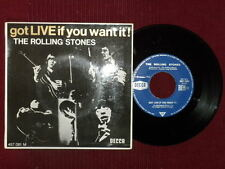 "45T 7"" ROLLING STONES ""Got live if you want"" 457.081 µ"